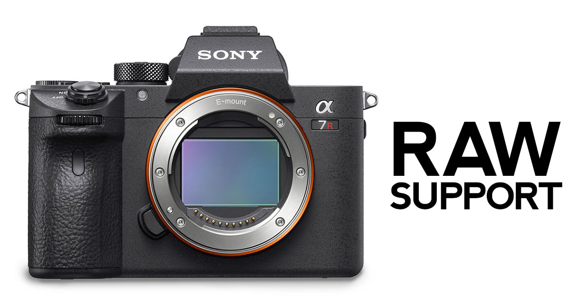 RAW Support for Sony a7R III