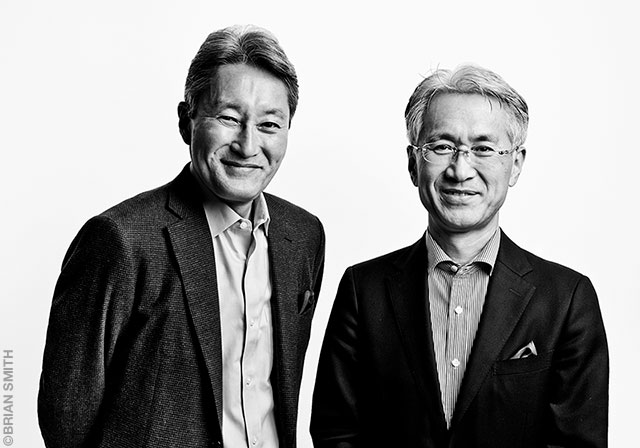 Sony CEO Kazuo Hirai with Kenichiro Yoshida at CES 2017 Las Vega