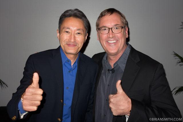 Sony CEO Kazuo Hirai with Sony Artisan Brian Smith at CES 2014