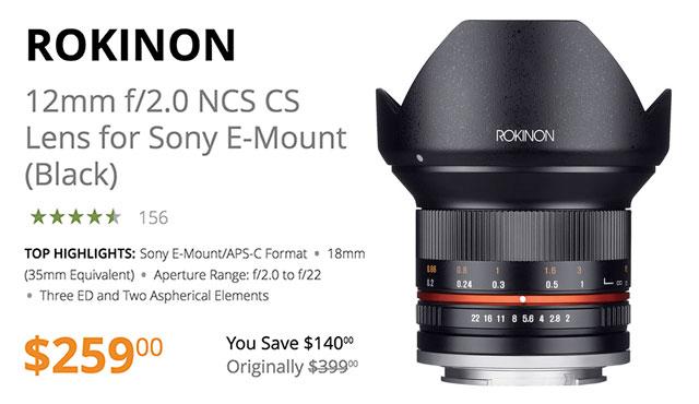 rokinon-12mm-f2-e-mount-lens-deal