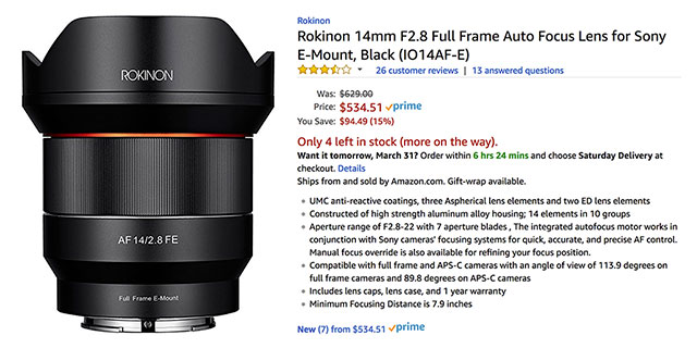 rokinon-af-14mm-f2-8-lens-deal-amazon