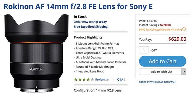 rokinon-af-14mm-f2-8-lens-deal