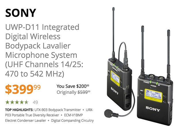 sony-uwp-d11-integrated-digital-wireless-microphone-deal