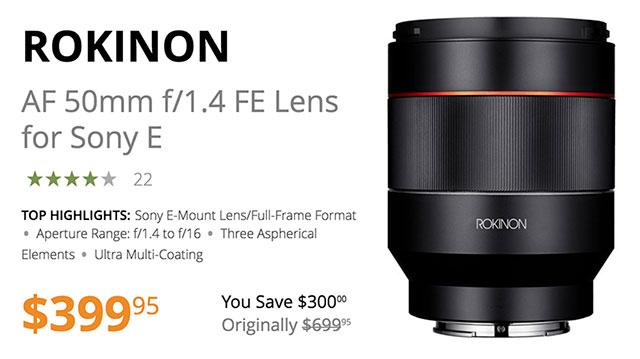 rokinon-af-50mm-f1-4-fe-lens-dealzone