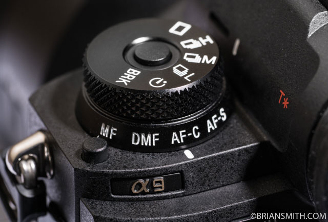 Sony a9 Shooiting Mode / Focus Mode Dial
