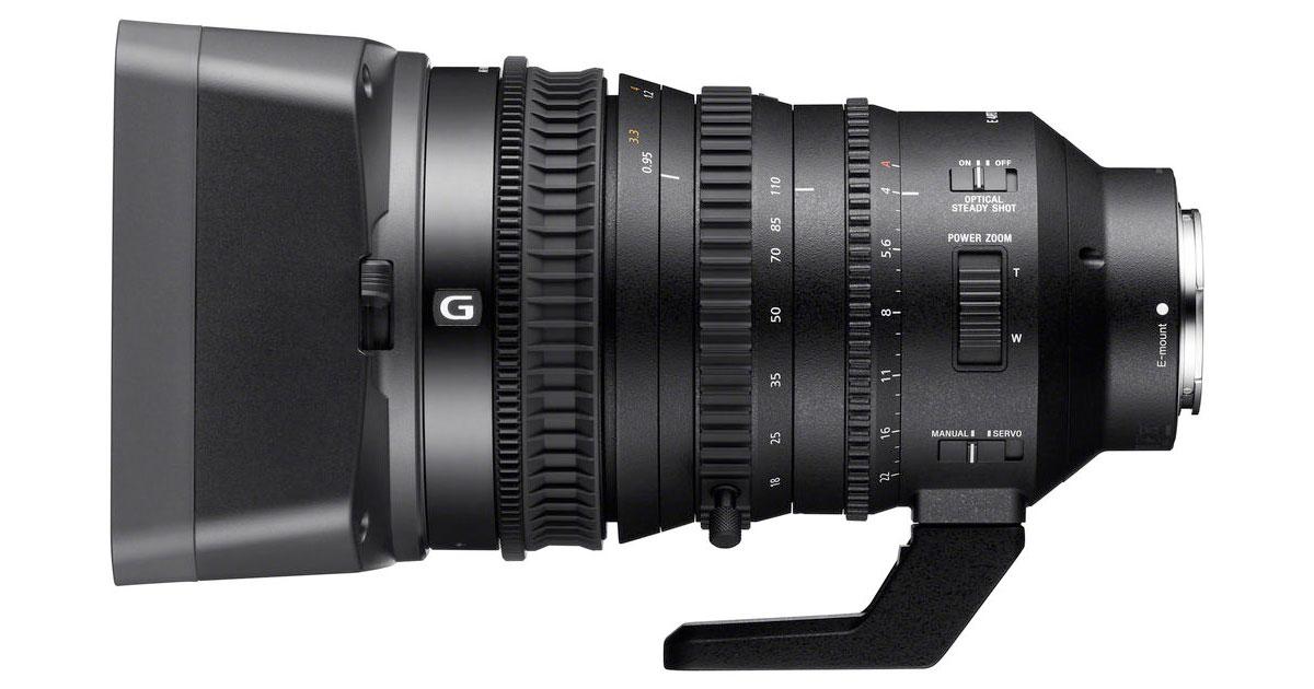Sony Releases PZ 18-110mm Super35 E-mount Lens Firmware
