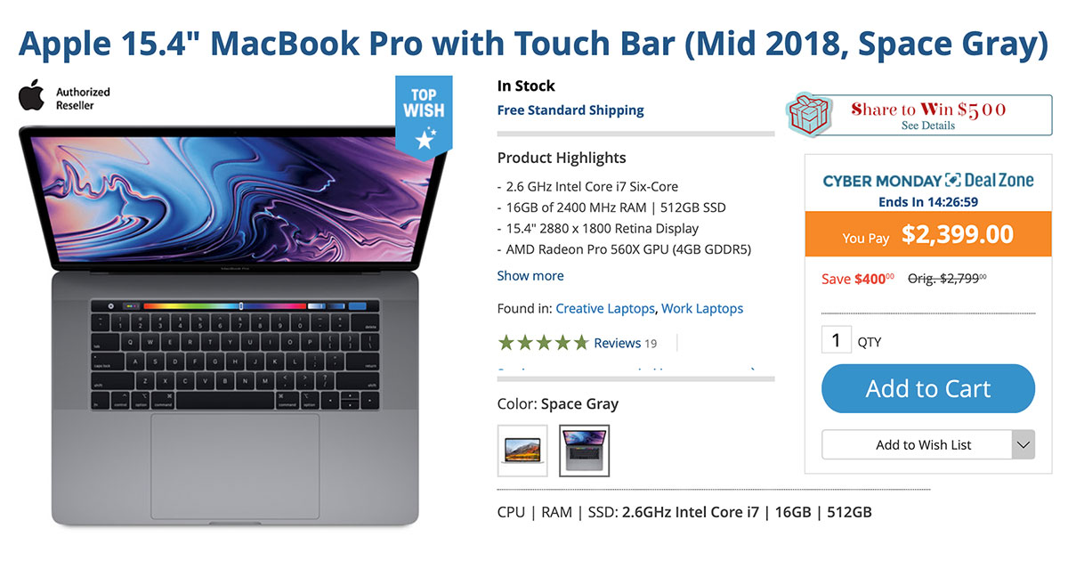 Cyber Monday Deals On Apple Macbook Pro