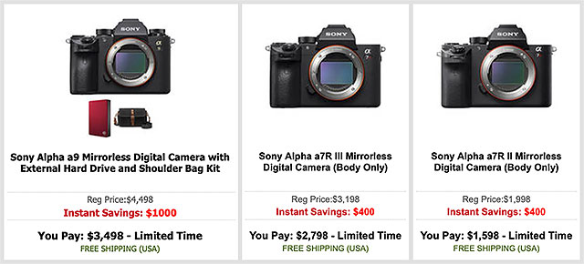 Sony Black Friday Camera Deals Include 1 000 Off Sony A9