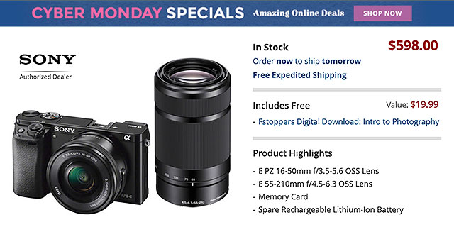 Sony Cyber Monday Deals On Cameras Lenses Accessories