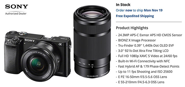 Sony Black Friday Camera Deals Include $1,000 Off Sony a9