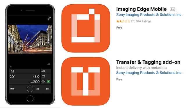 Sony Announces Imaging Edge Mobile + Transfer & Tagging Apps