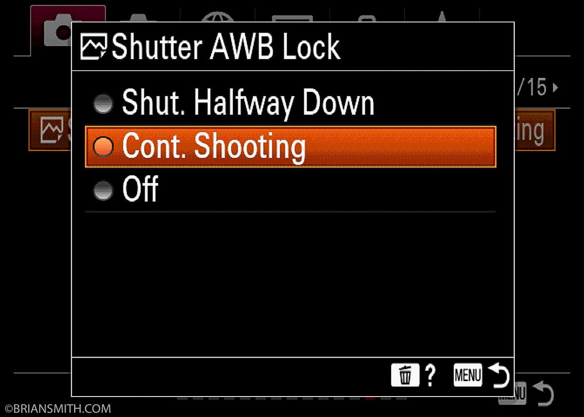 a7R IV Shutter AWB Loc