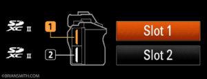 Sony a7R IV dual UHS-II SD card slots