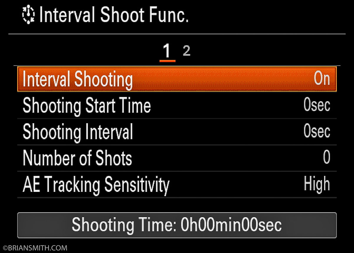 Interval Shoot Function