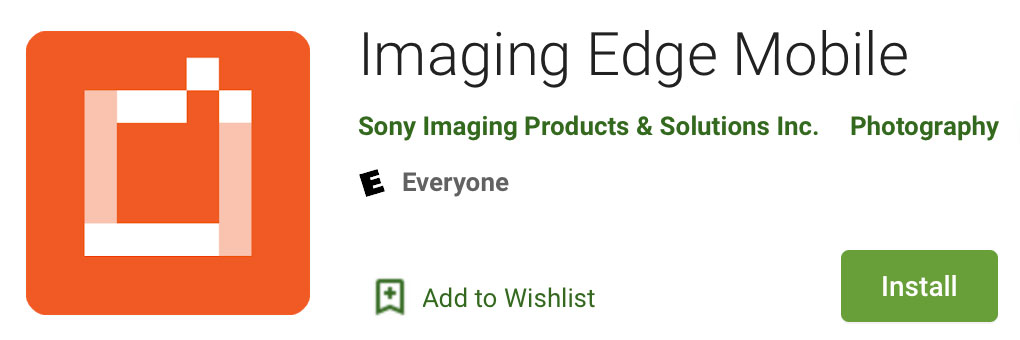 Imaging Edge Mobile Android 7.3