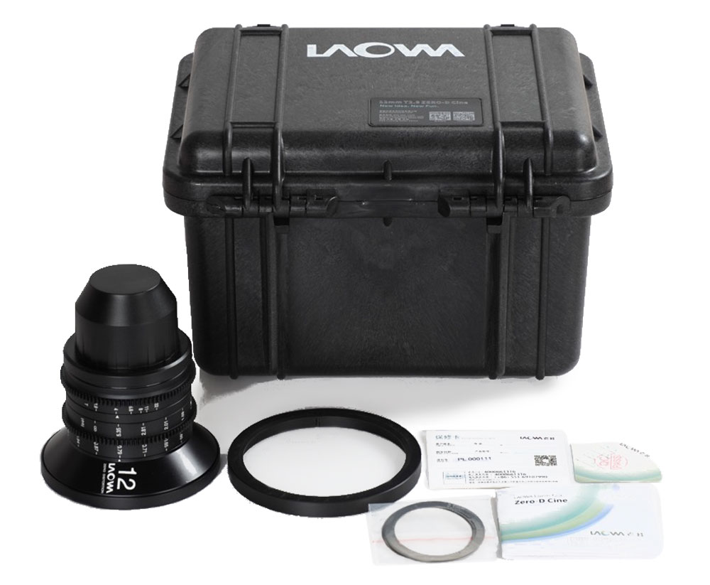 Laowa 12mm t/2.9 Zero-D Cine lens package