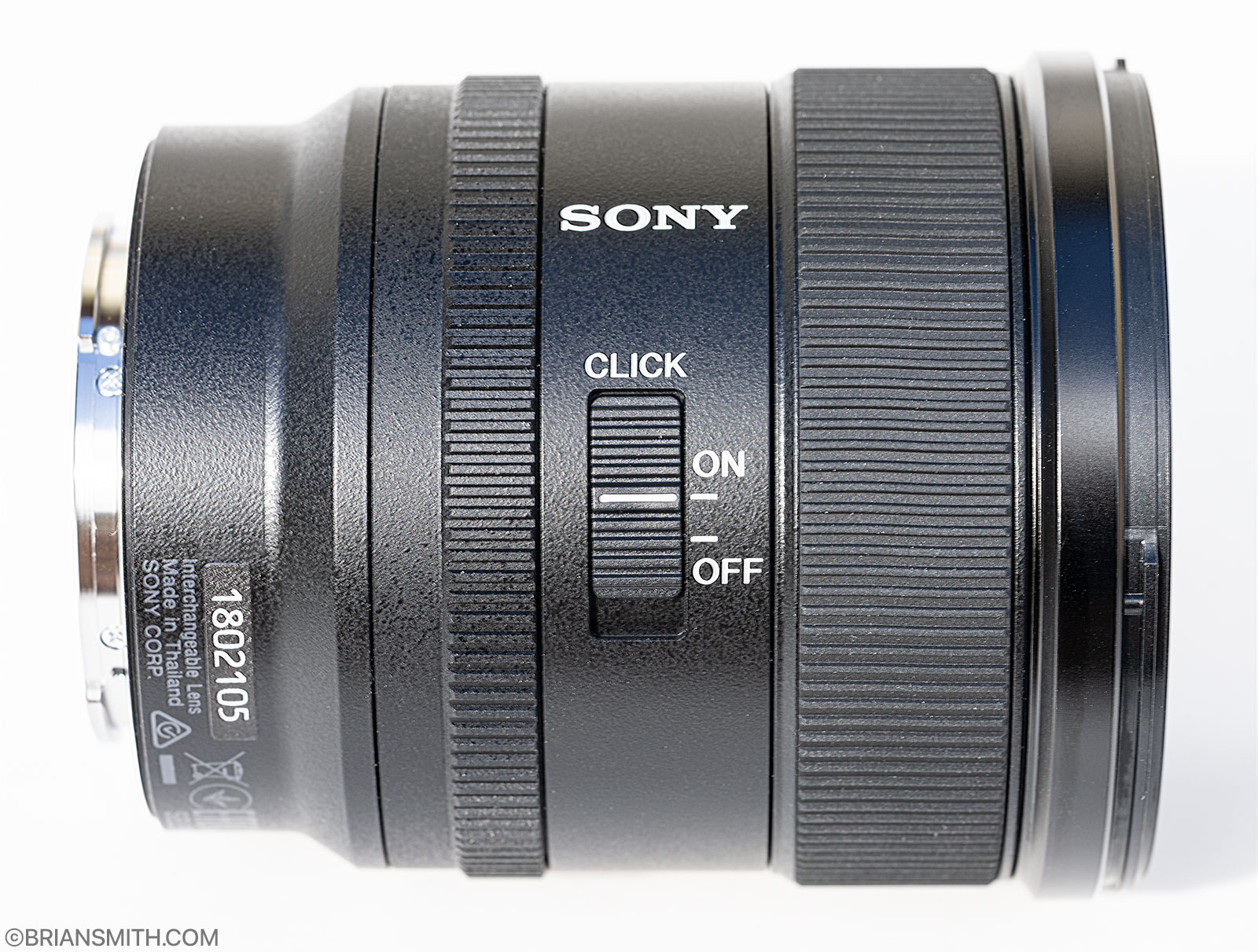 Sony FE 20mm F1.8 G aperture click on off