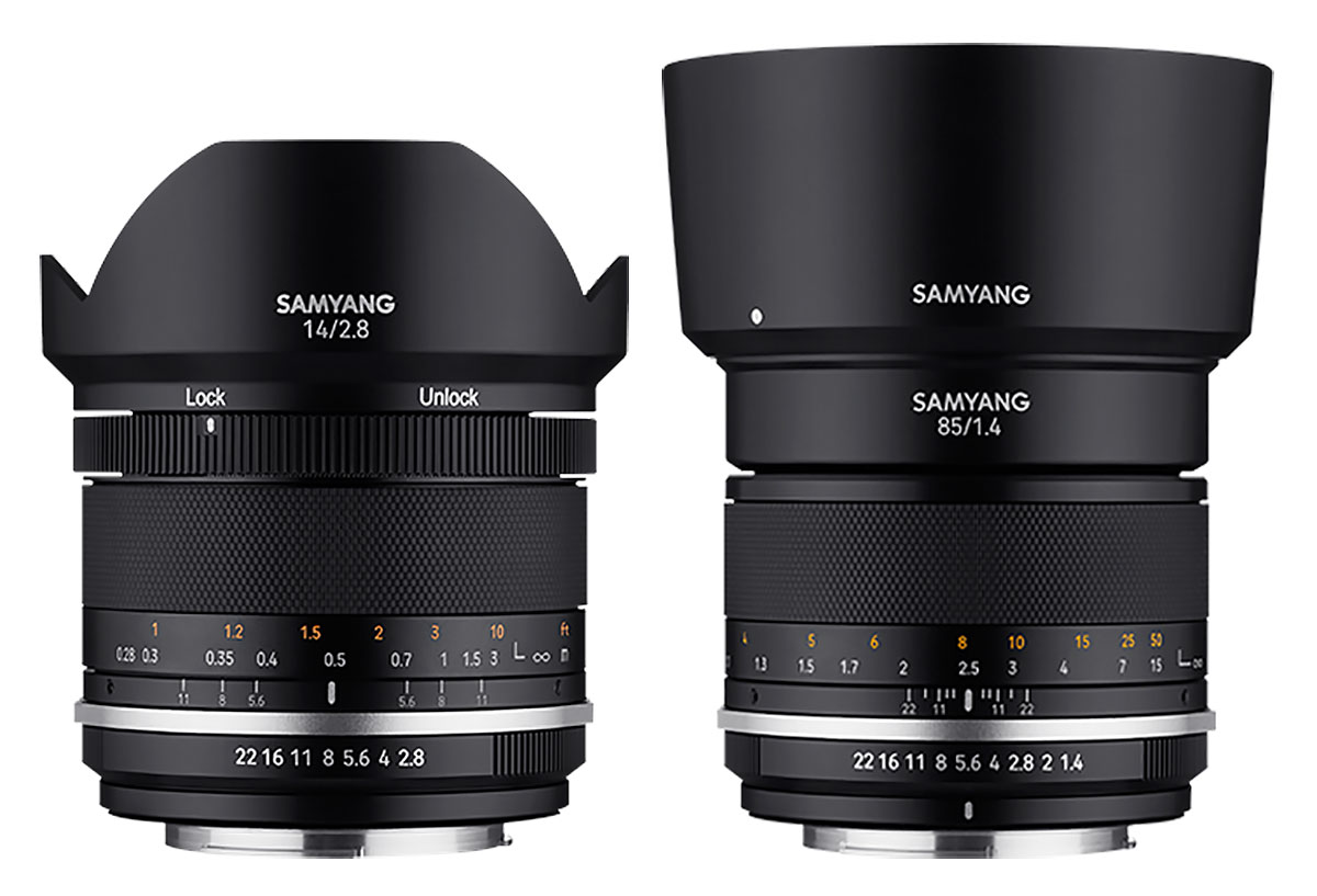 Samyang MF 14mm F2.8 MK2 & MF 85mm F1.4 MK2