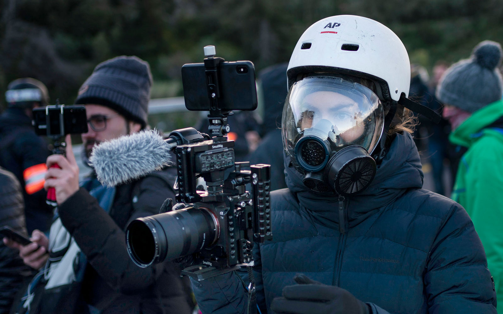 Associated Press photojournalist on assignment