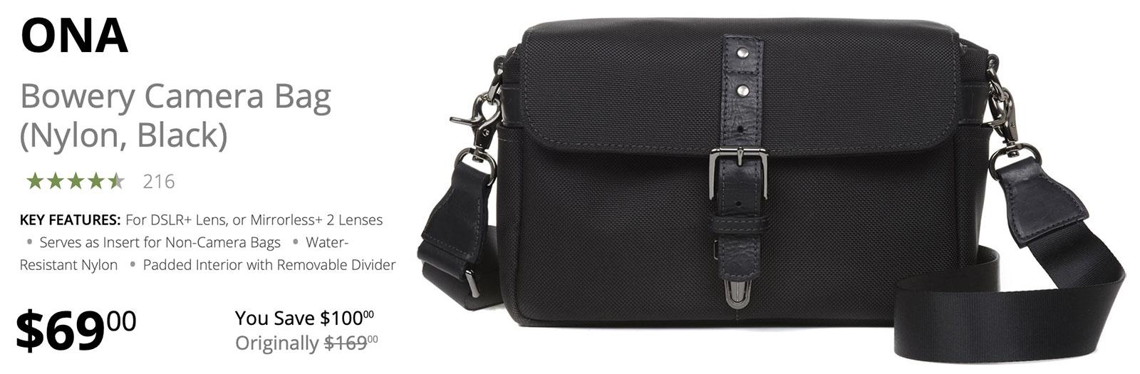 Save $100 Today on ONA Bowery Camera Bag