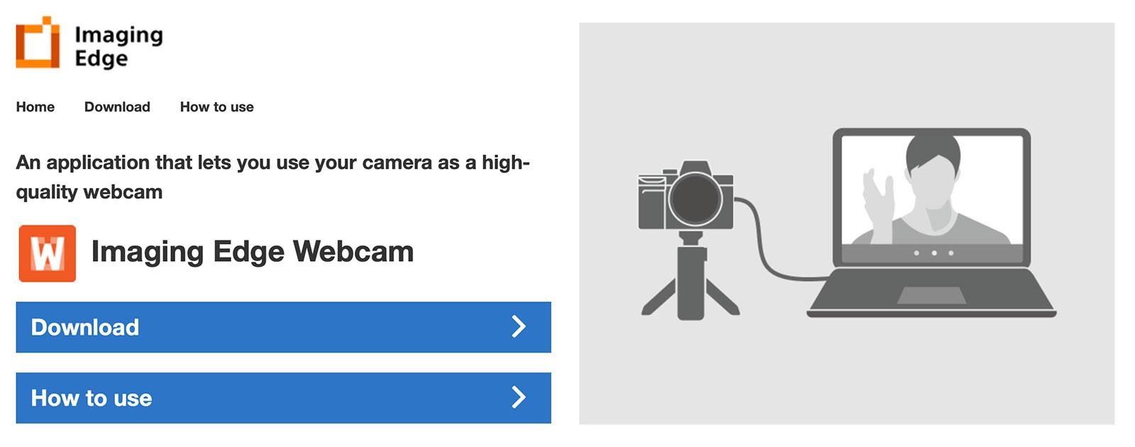 Sony Imaging Edge Webcam
