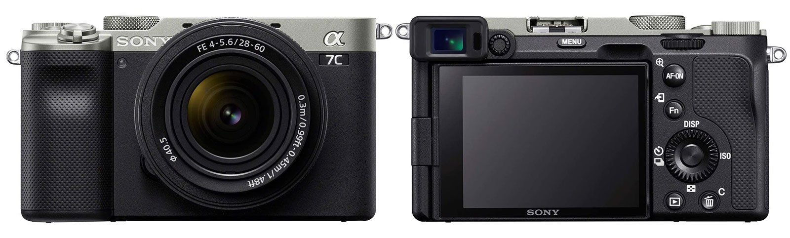 Sony a7C front & back