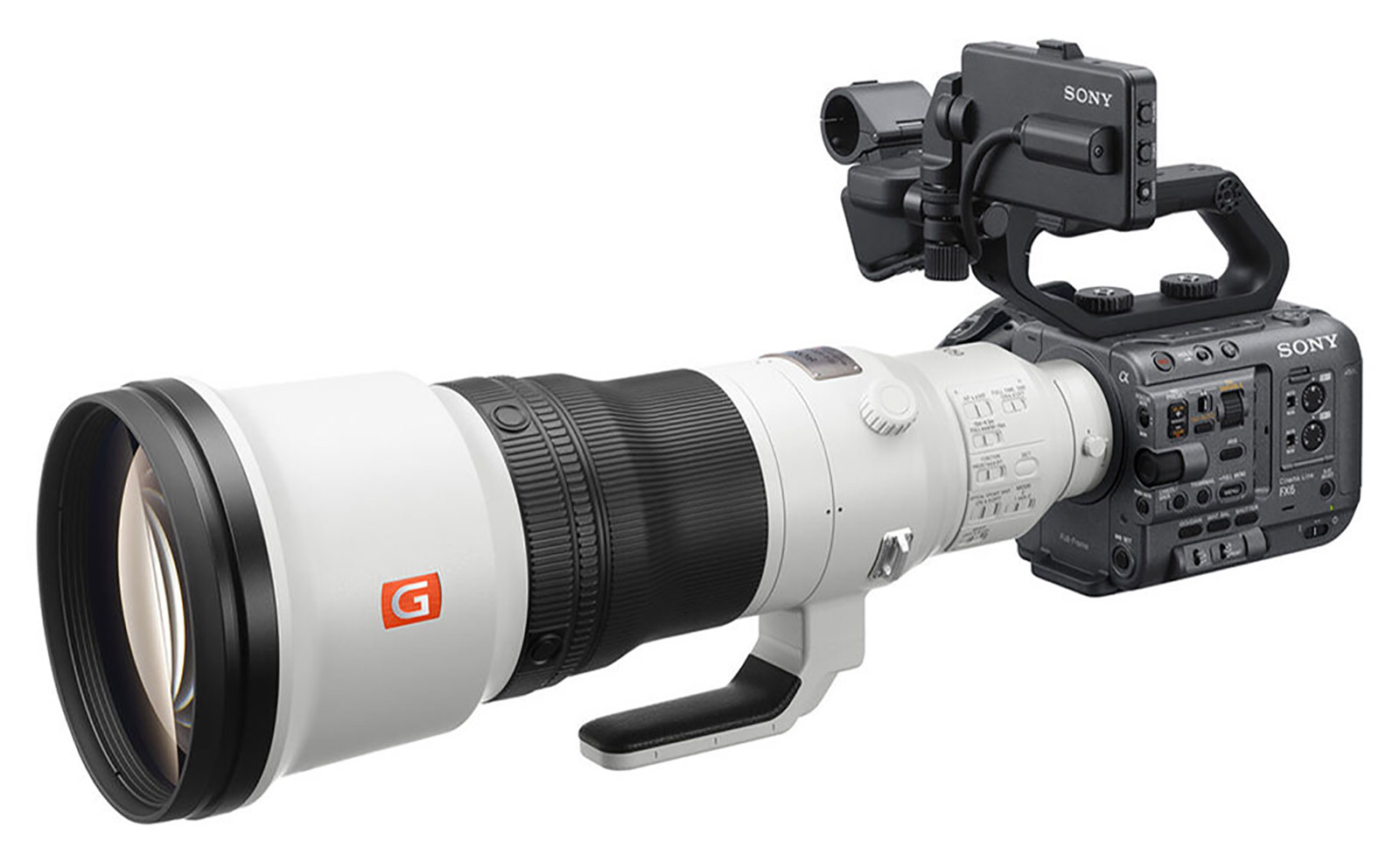 Sony FX6 Cinema Camera 600mm GM lens