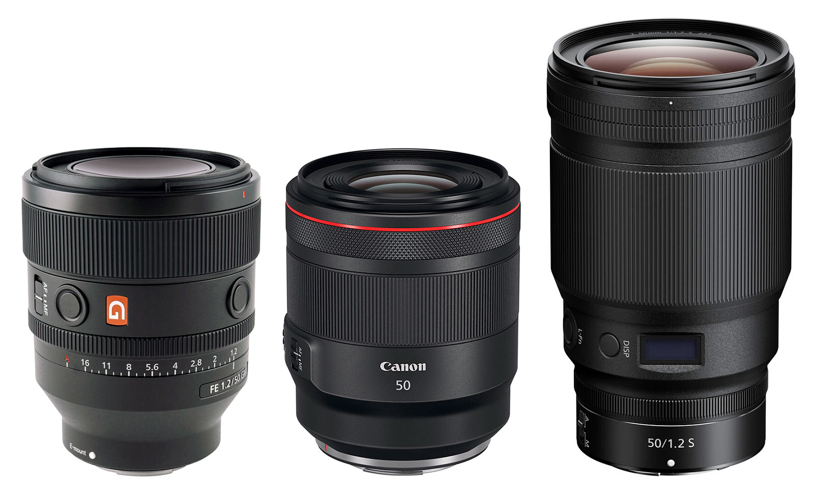 Sony FE 50mm F1.2 GM -VS- Canon & Nikon