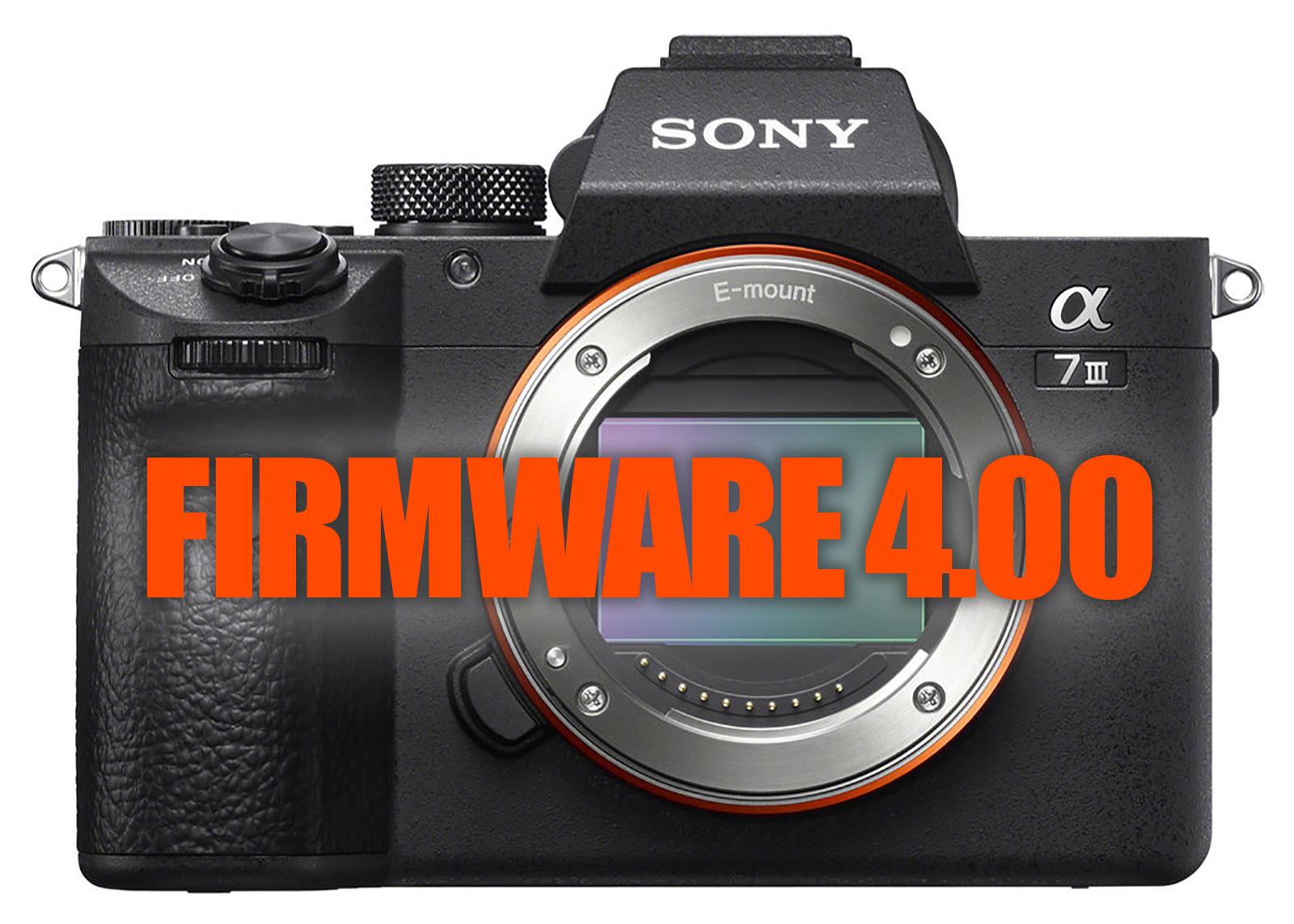 Sony a7 III Firmware Update 4.00