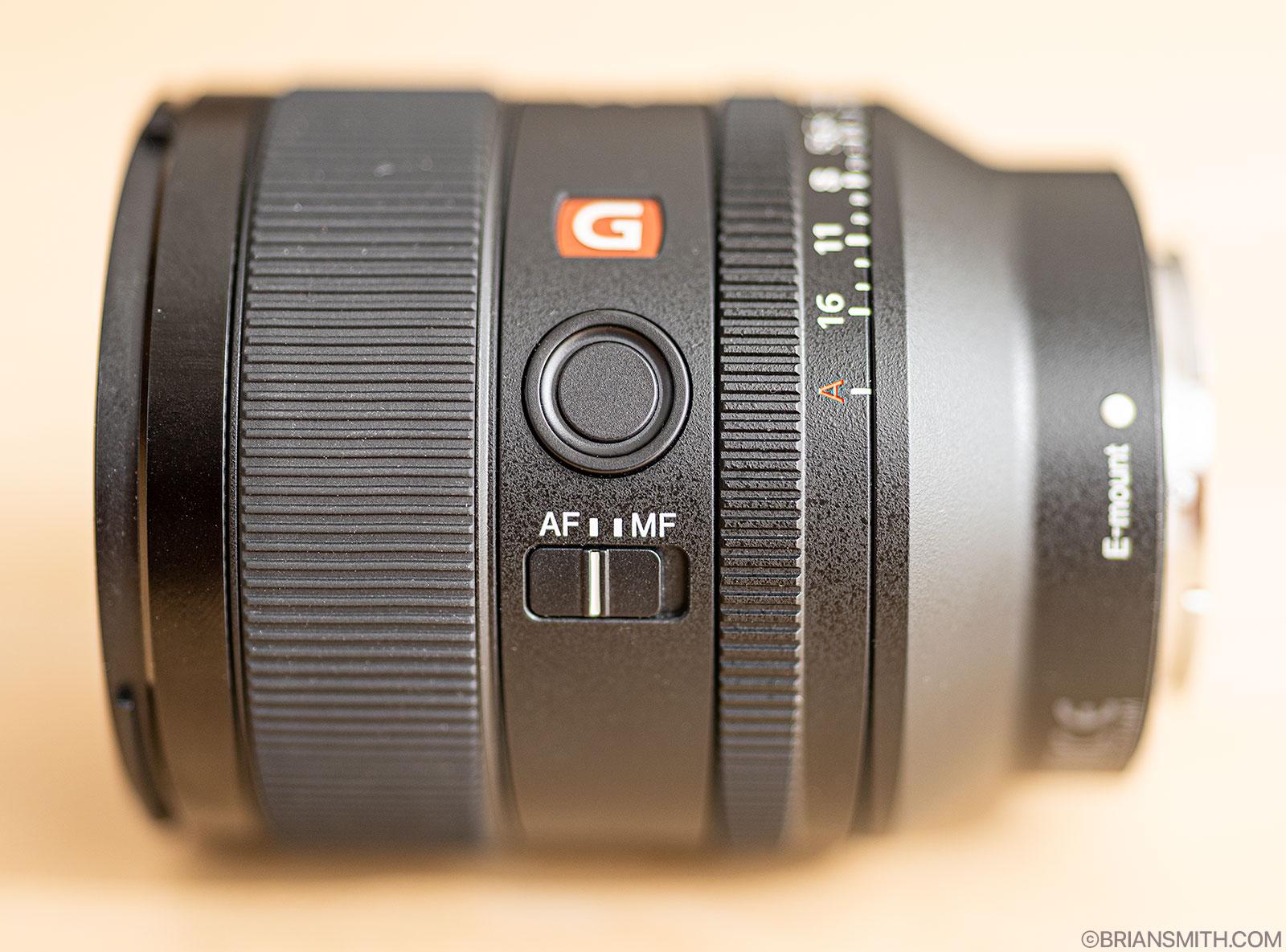 Sony FE 35mm F1.4 GM lens controls