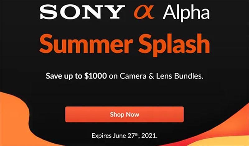 Sony Summer Splash Camera & Lens Deals