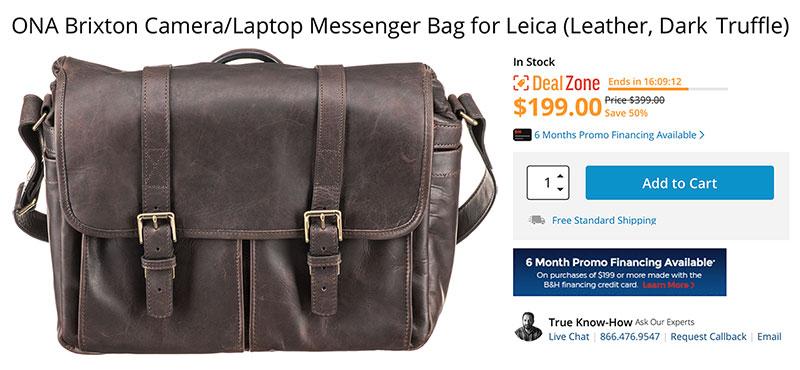 ONA Brixton Camera/Laptop Messenger Bags
