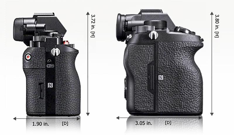 Sony a7R & a7R IV Grip Size Comparison