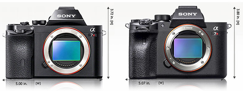 Sony a7R & a7R IV Body Size Comparison