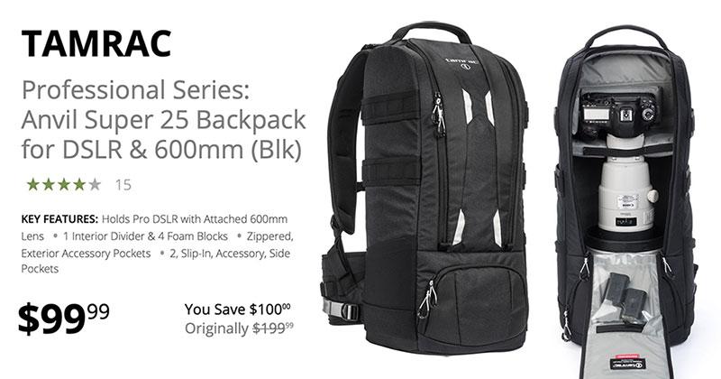 Tamrac Professional Series 600mm Lens Backpack