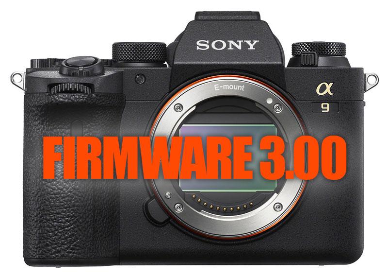 Sony a9 II Firmware Update 3.00